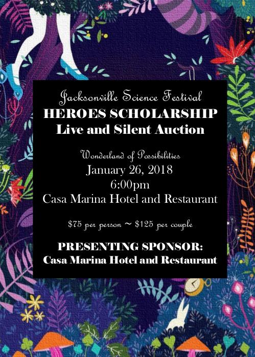 Jacksonville Science Festival Auction Invitation 2018