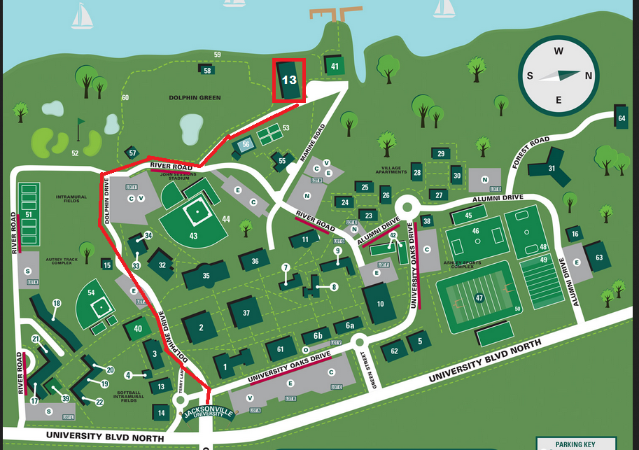 ju map with directions